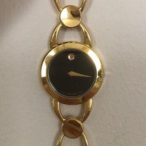 Movado Rava Gold Tone Watch